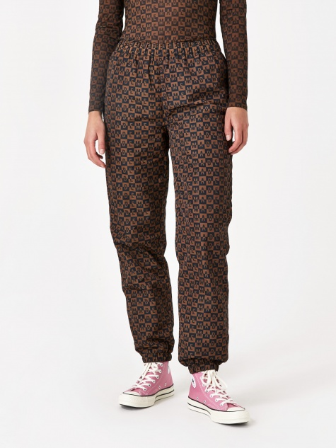 Checkered Logo Trackpant - Brown