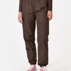 MadeMe Checkered Logo Trackpant - Brown