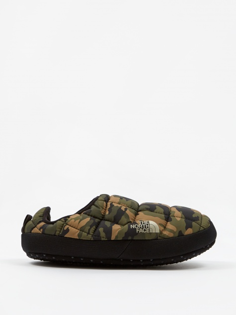 The North Face ThermoBall Traction Mule V - Burnt Olive Woodland