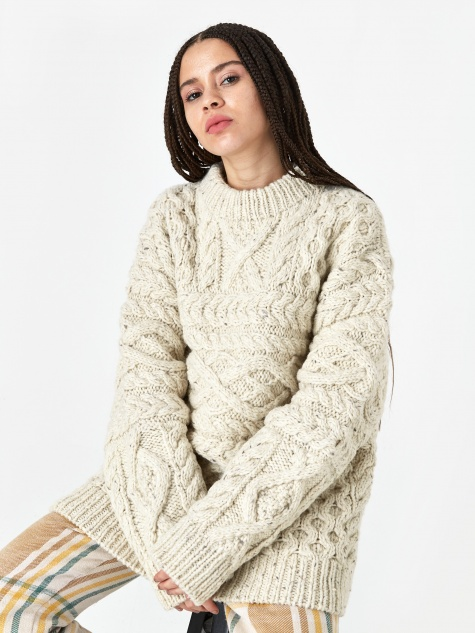 Oversized Knit Jumper - Off White