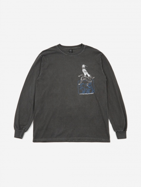Small Animals Longsleeve T-Shirt - Washed Black