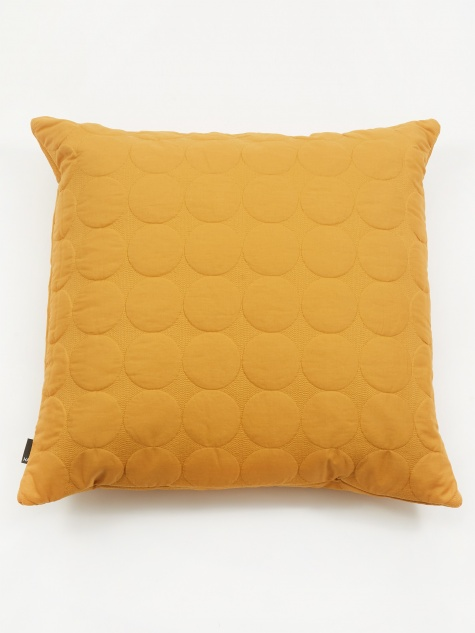 Mega Dot Cushion - Mustard