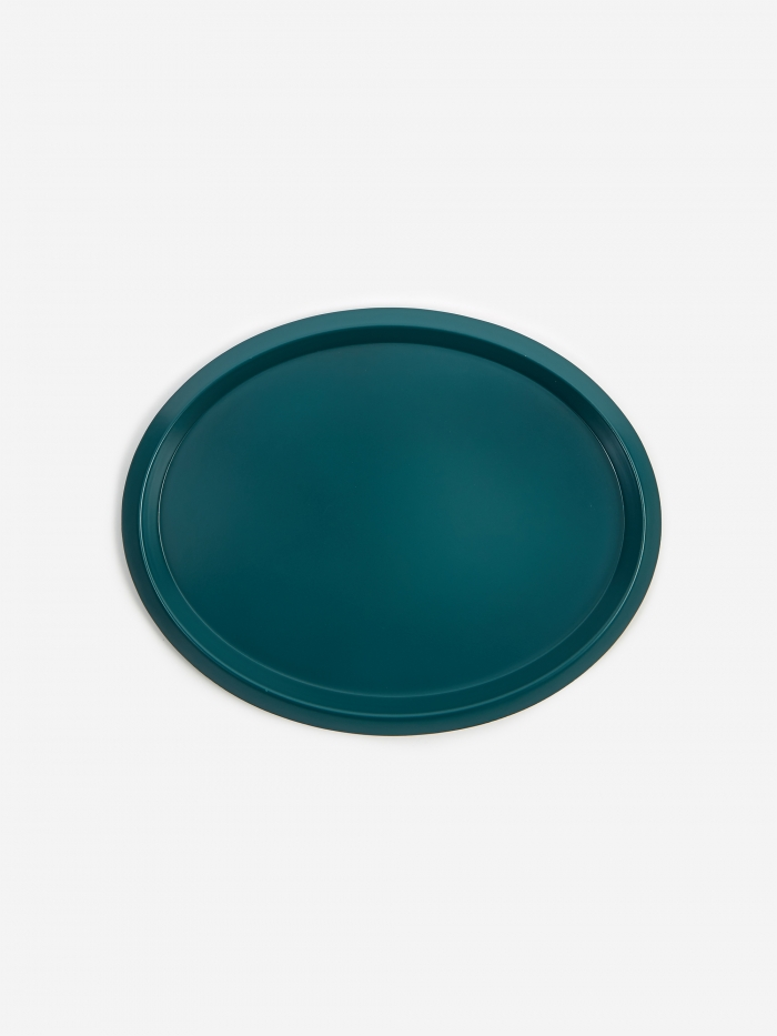 HAY Ellipse Tray S - Dark Green (Image 1)