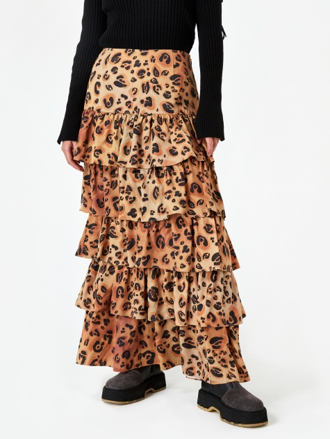 Marzia Skirt - Brown Multi