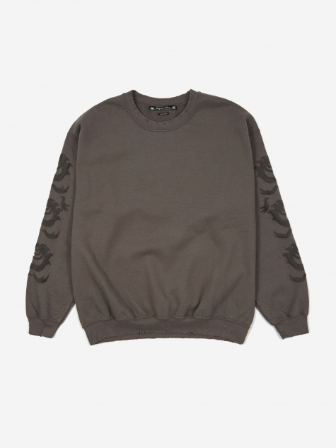 Oriental Orb Sweatshirt - Charcoal Grey