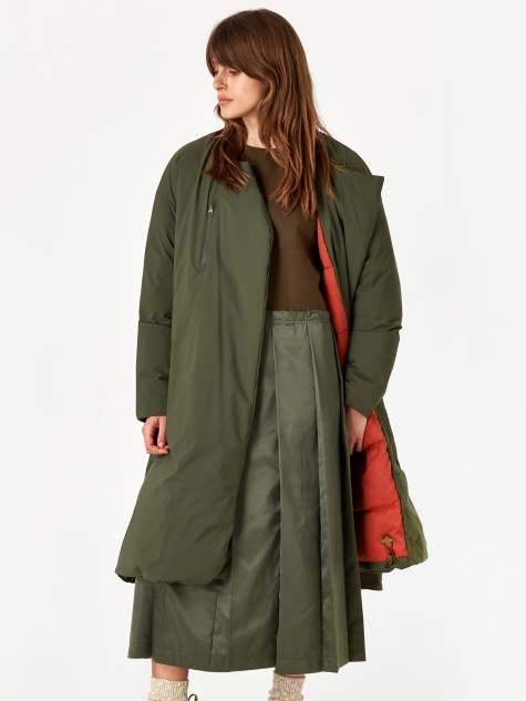 FT Long Down Coat - Army