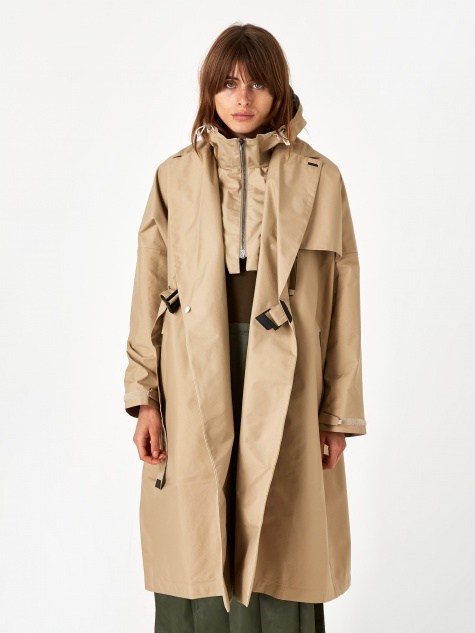 Wrap Double Breasted CT Coat - Beige