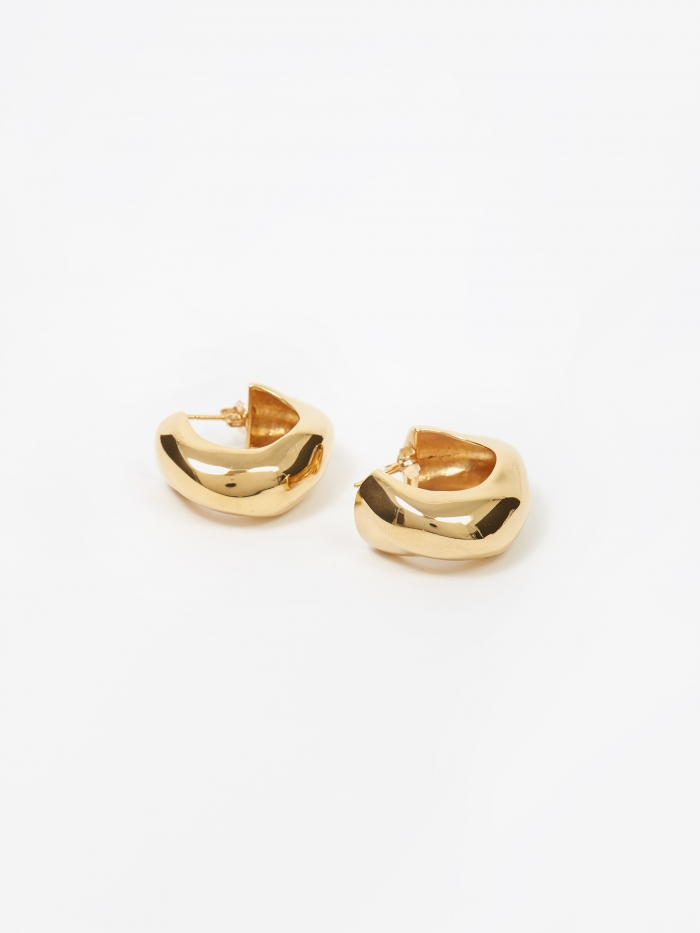 AGMES Medium Celia Hoops - Gold Vermeil (Image 1)
