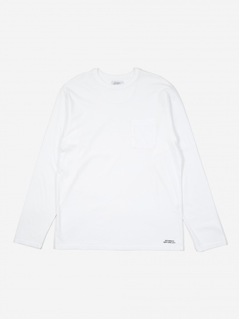 James Pima Longsleeve T-Shirt - White