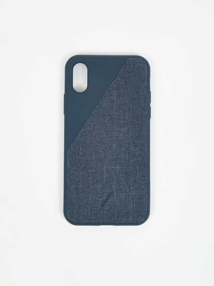 Native Union Clic Canvas iPhone Xs Case - Navy (Image 1)