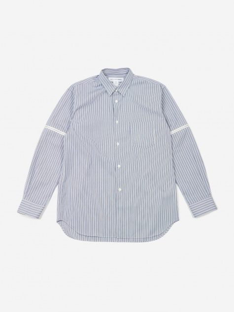 Cotton Poplin Zip Sleeve Shirt