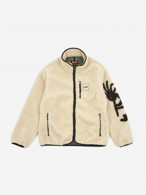 Kokopelli Fleece Jacket - Natural