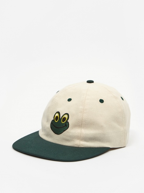 Frog Man Hat - Natural/Green
