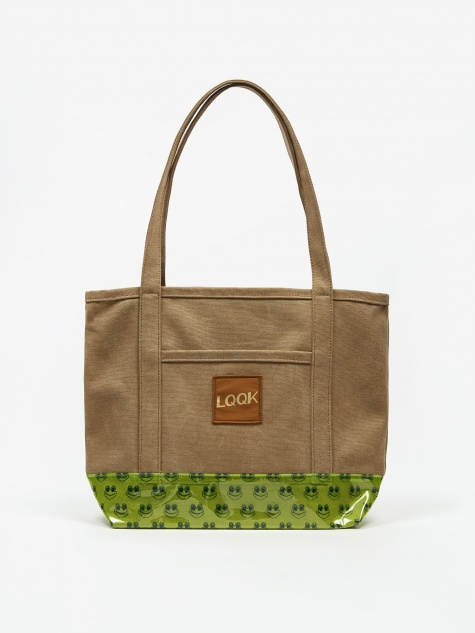 Frog Man Tote Bag - Canvas/Vinyl