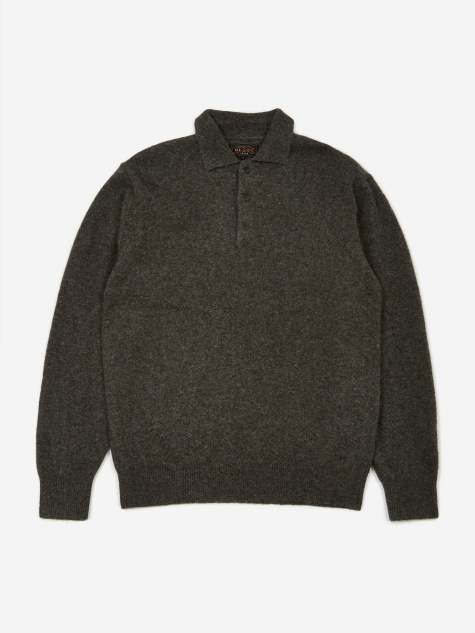 Knit Polo Shirt - Charcoal Grey