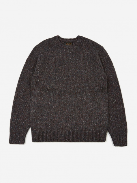 Lily Yarn Crew Neck Jumper - Grey