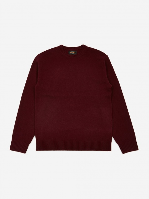 7G Crew Neck Jumper - Burgundy