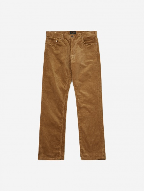 5 Pocket Tapered Corduroy Trouser - Beige