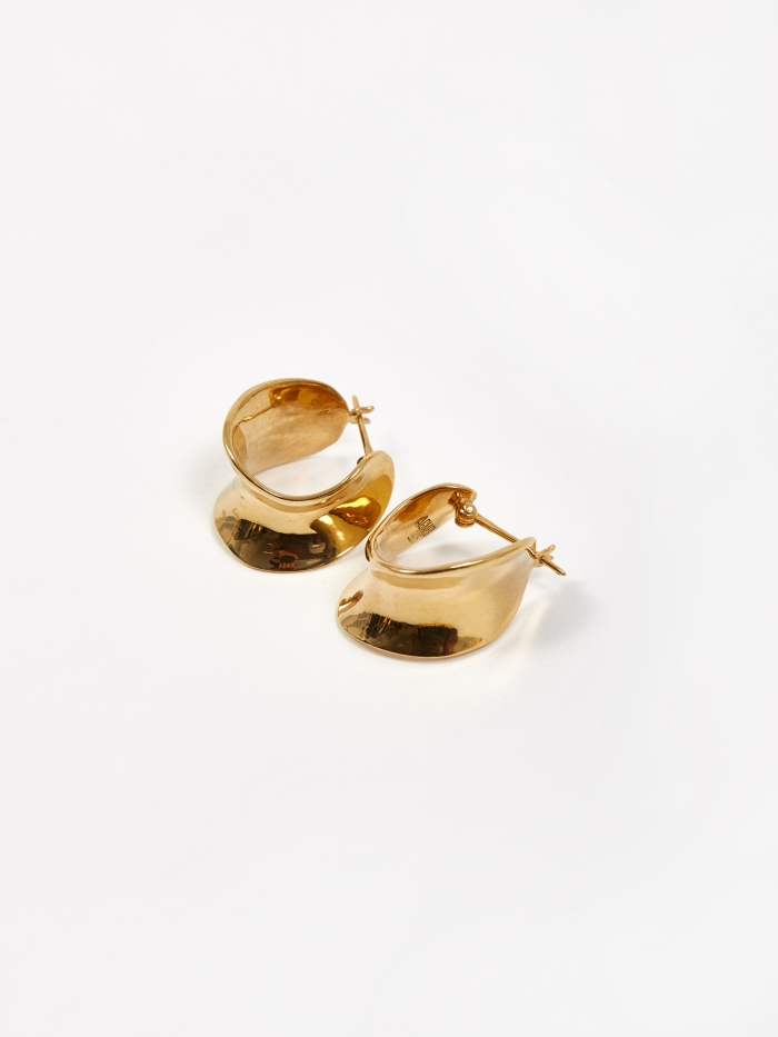 AGMES Mini Laila Hoop Earrings - Gold Vermeil (Image 1)