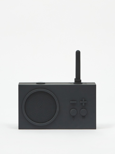 Tykho Wireless 3 FM Radio & Bluetooth Speaker - Dark Grey