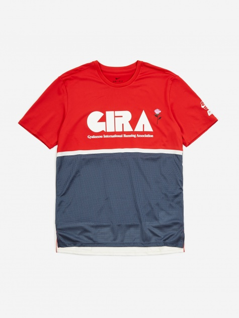 x Gyakusou NRG Shortsleeve Top - Sport Red/Thunder Blue/Sai