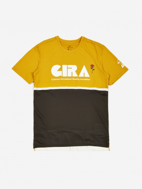 x Gyakusou NRG Shortsleeve Top - Mineral Yellow/Deep Pewter