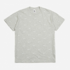 Nike NRG Swoosh Logo T-Shirt - Grey Heather