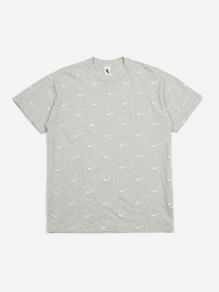 Nike NRG Swoosh Logo T-Shirt - Grey Heather (Image 1)