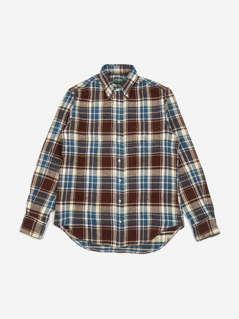 Button Down Longsleeve Shirt - Brown Check