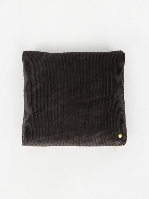 Corduroy Cushion 45 x 45 - Dark Grey