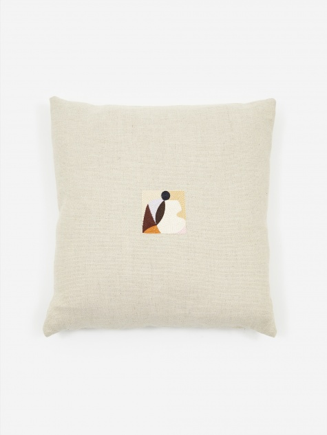 Natural Peep Hole Cushion - 45 x 45cm