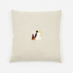 Laurie Maun Natural Peep Hole Cushion - 45 x 45cm