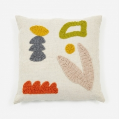 Laurie Maun Neutral Garden Cushion - 45 x 45cm