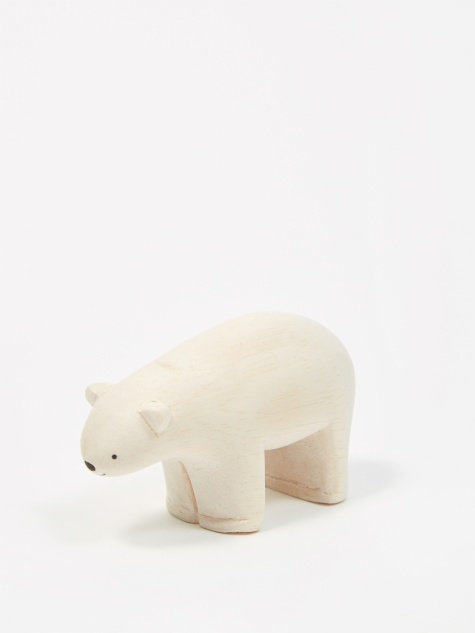 Pole Pole Wooden Animal - Polar Bear