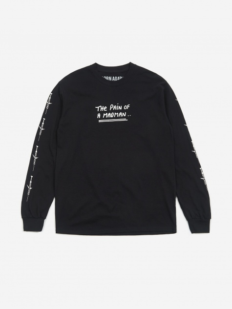 The Pain Of A Madman Longsleeve T-Shirt - Black