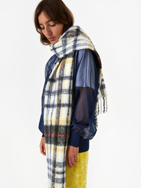 Aster Check Scarf - Opal