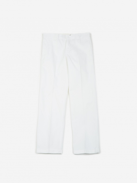 Slim Straight 873 Work Trousers - White