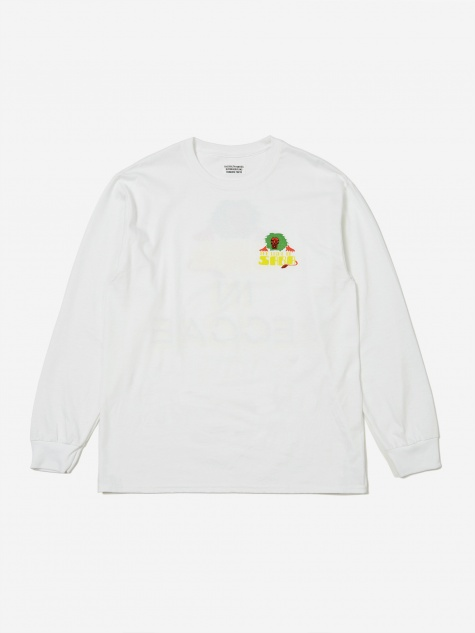 Crew Neck Long Sleeve T-Shirt (Type-4) - White
