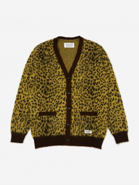Leopard Mohair Cardigan (Type 2) - Yellow