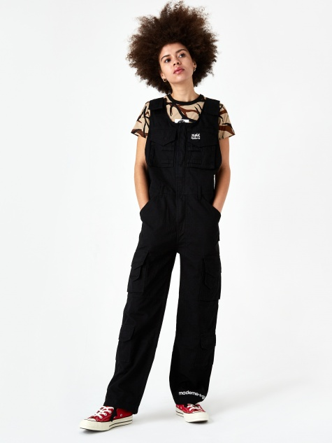 x X-Girl Cargo Overall - Black