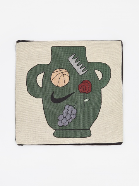 Green Vase Pillow Cover