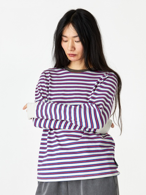 Printed Stripe Longsleeve T-shirt - Off White