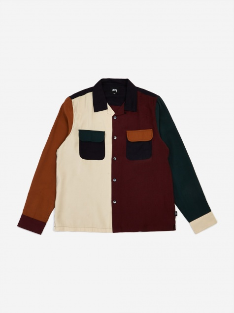 Colour Block Rayon Shirt - Multi