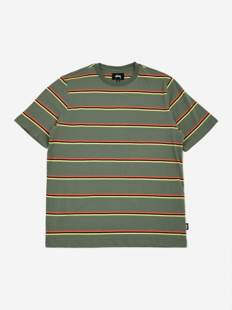 Kaden Stripe Crewneck T-Shirt - Green