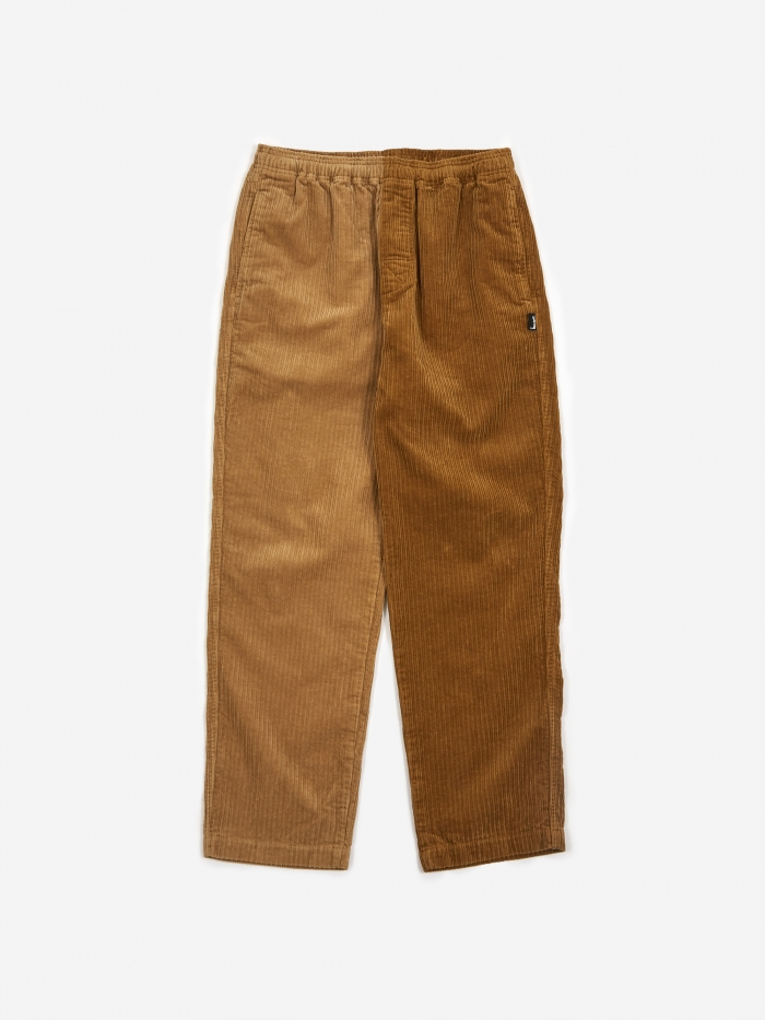 Stussy Mix Up Cord Beach Pant - Brown (Image 1)