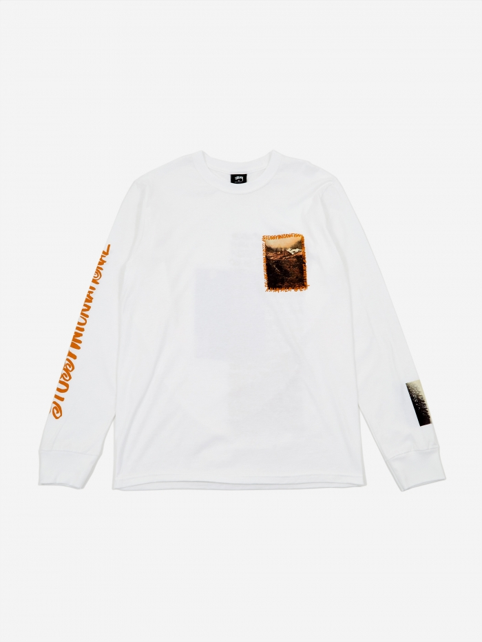 Stussy Great Outdoors Longsleeve T-Shirt - White (Image 1)