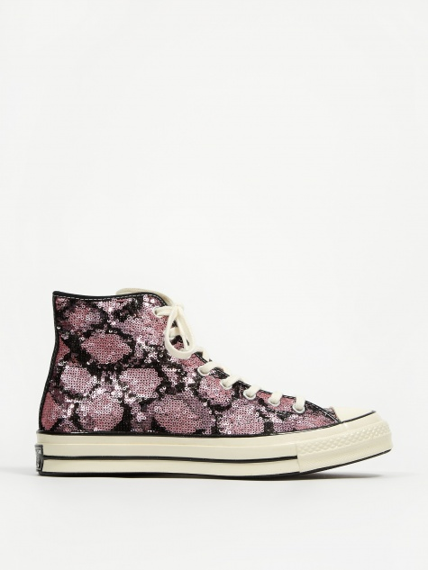 Snake Sequin Chuck 70 Hi - Light Orchid/Egret/Black