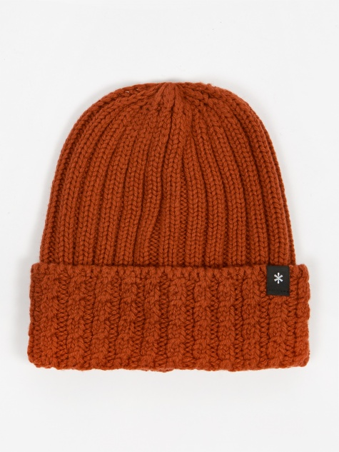Washable Wool Knitted Cap - Orange