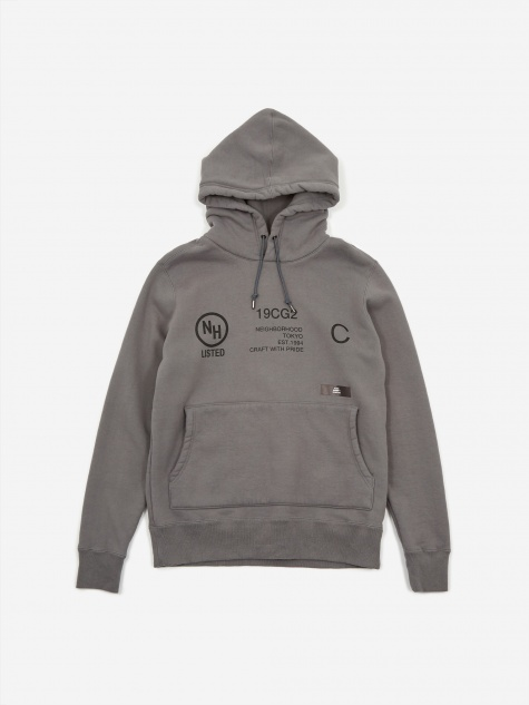 Longsleeve Thick-H / C-HOODED - Grey
