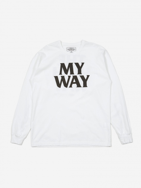 Longsleeve My Way / C-TEE - White